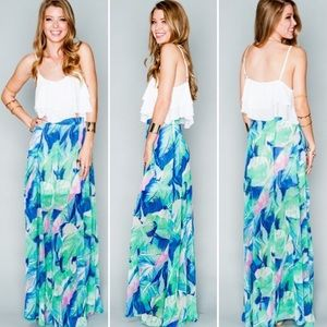 SMYM Princess Di Maxi Skirt Miami Barbie Floral